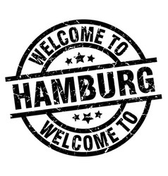 Welcome to hamburg black stamp vector