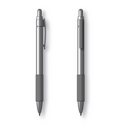 white realistic set pen vector image