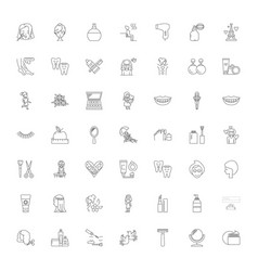 women health linear icons signs symbols vector image