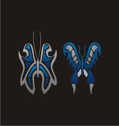 butterfly triball vector image