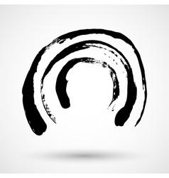 Grunge circle frame vector image vector image