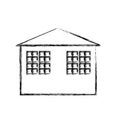 house building symbol vector image vector image