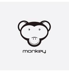 monkey design template vector image vector image