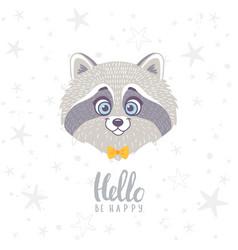 raccoon cute vector image