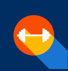 dumbbell weights sign white icon on vector image vector image