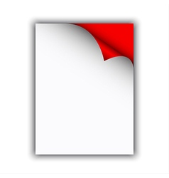 Empty paper sheet with curled edge vector image