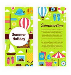 Flyer Template of Flat Design Summer Holiday vector image vector image