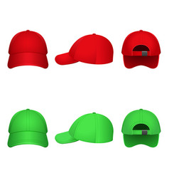 red and green caps vector image vector image