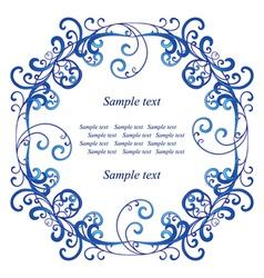 Blue vignette vector image vector image