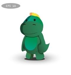 cool dinosaur character design vector image