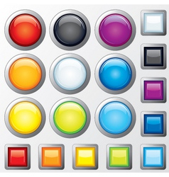 glossy buttons vector vector image vector image