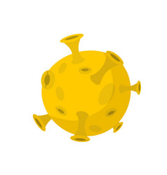 Moon isolated cartoon style yellow planet of vector