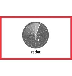Radar contour outline icon vector image