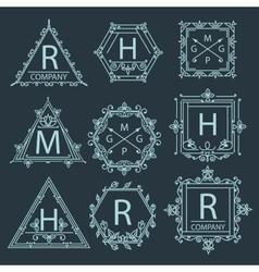 Set ornament logo vector