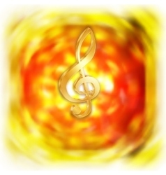 treble clef with bright blurred background vector image vector image