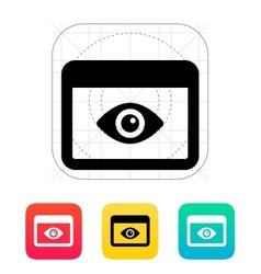 Application monitoring icon vector image vector image