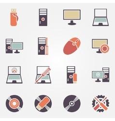 Computer repair icons vector image