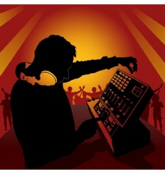 dj in action vector image vector image