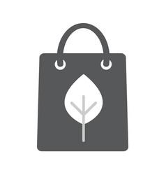 eco paper bag icon vector image