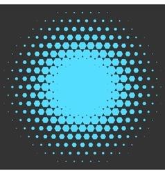 Halftone circle made of hexagons vector image vector image