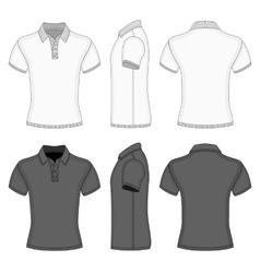 Mens polo shirt and t-shirt design templates vector image vector image