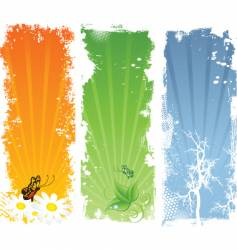 nature backgrounds vector image vector image