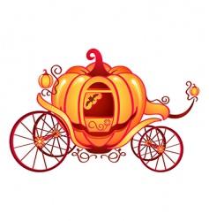 Pumpkin carriage vector