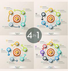 set of 4 modern infographic design templates vector image