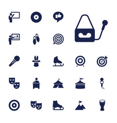 22 performance icons vector