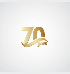 70 years anniversary celebration elegant gold vector