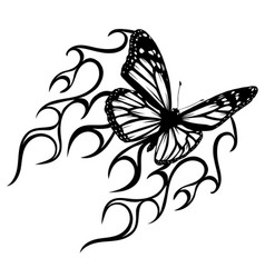 abstract tattoo - a magic butterfly vector image