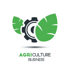 Agriculture logo template icon design two leaf vector