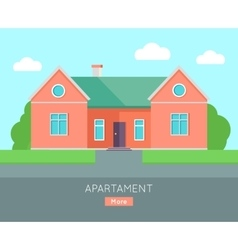 Appartment Banner Poster Template Separete House vector