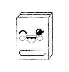 Book cartoon smiley vector