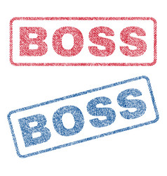 Boss textile stamps vector