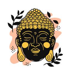 Buddha portrait in scandinavian vector