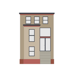 Cartoon historical brown building icon highly vector