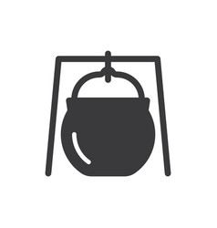 cauldron icon vector image