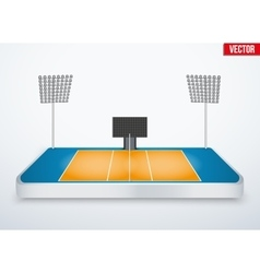 Concept of miniature tabletop volleyball arena vector