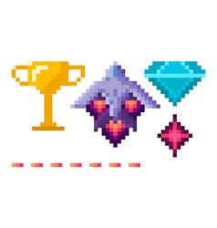 Cosmic symbol pixel game space award vector