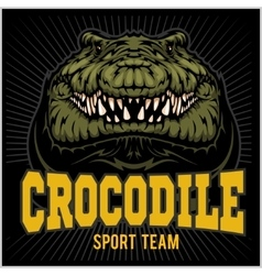 Crocodile mascot for a sport team vector image