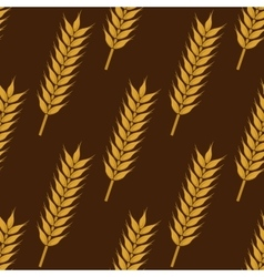 Ears of ripe wheat seamless pattern vector