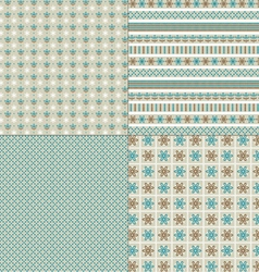 embroidery patterns vector image