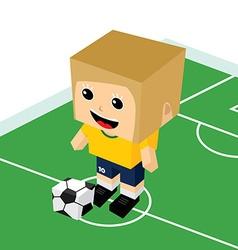 Female cartoon soccer player vector