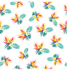 Floral paradise tropic seamless pattern vector