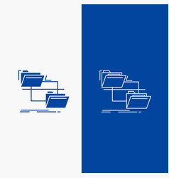 folder file management move copy line and glyph vector image