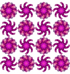 geometric flowers vector image