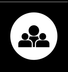 group people icon template design vector image