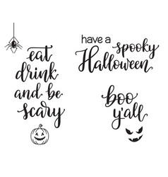 halloween typography set vector image