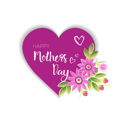 happy mothers day logo isolated holiday greeting vector image
